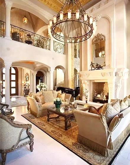 优雅奢华欧式风格客厅图片