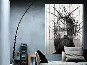 家居變身藝術館 12個客廳藝術裝飾畫設計