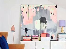点睛之美 12个客厅创意装饰画设计
