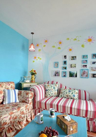 地中海客厅照片墙