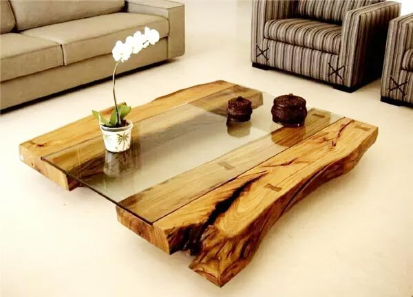 废旧木材巧变客厅小茶几
