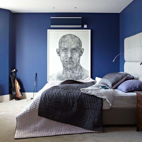蓝色北欧卧室