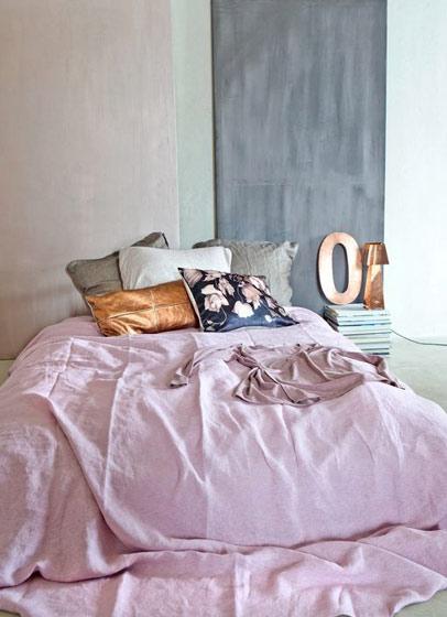 粉色北欧卧室效果图