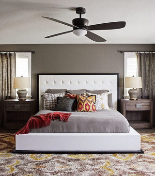 现代简约灰色卧室效果图