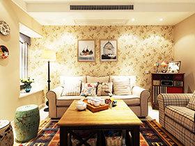 60平米美式装修风格 温馨三口之家
