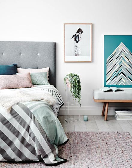 清新整洁卧室布置效果图