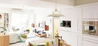 70平米简约风格效果图餐厅吊灯设计
