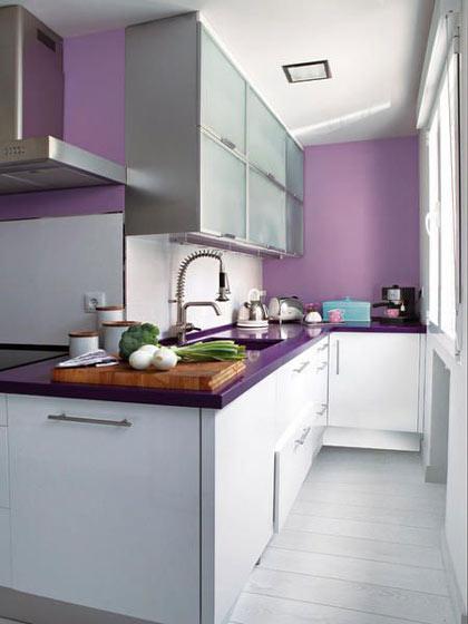 梦幻紫色厨房效果图