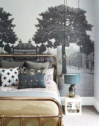 3D卧室背景墙设计
