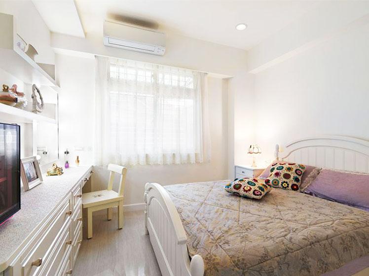 甜美韩式田园风卧室设计