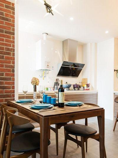 80平装修效果图餐厅厨房设计