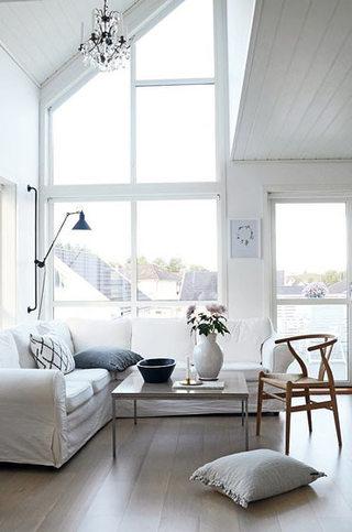 L型米色客厅沙发效果图