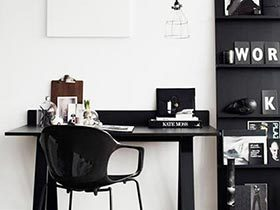 轻便实用省空间 12个书房小书桌设计