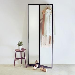 弧形玄关试衣镜效果图