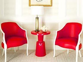 典雅热情中国红 10个红色客厅设计