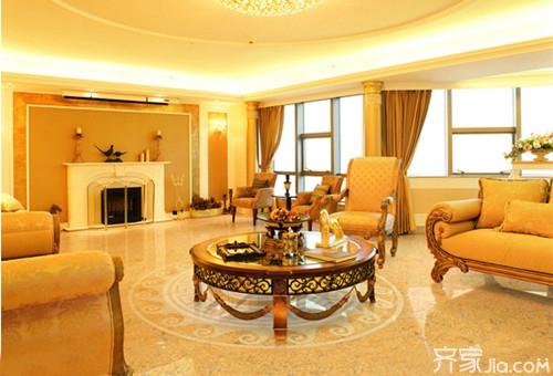 客厅 拼花/客厅地面拼花贴图:几何图案的地砖拼花铺满了整个客厅的地面,...