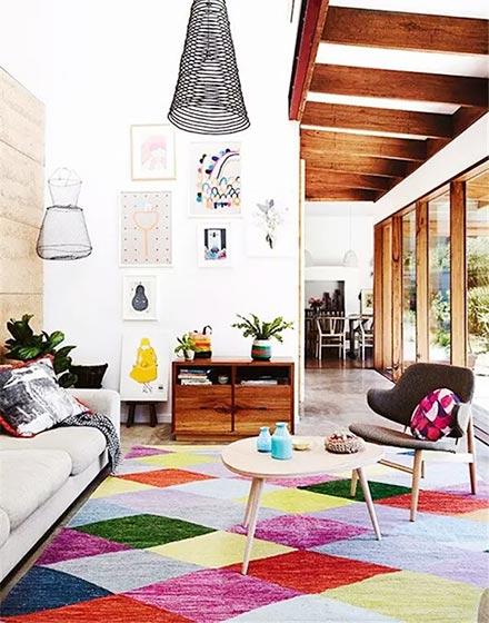 几何图案客厅地毯设计