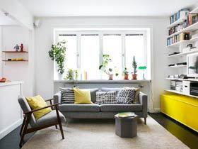 67平米装修效果图 充满艺术的色彩公寓