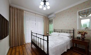 美式风格两室一厅绿色90平米装修效果图