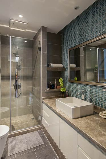 代简约风格时尚90平米卫生间装修效果图高清图片