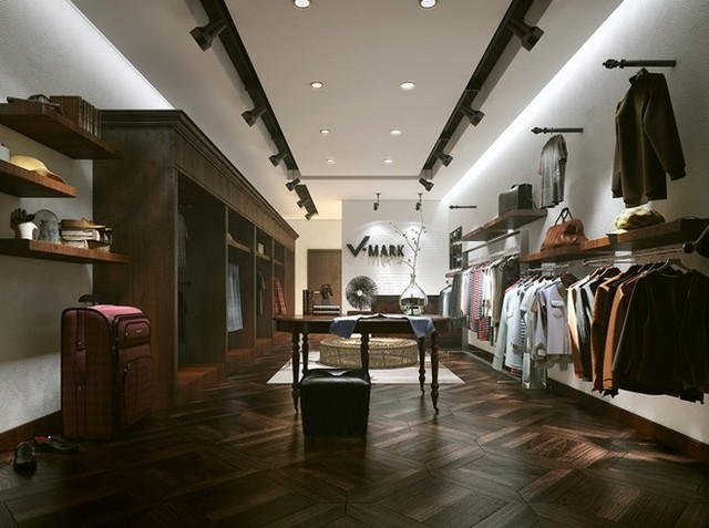小服装店装修风格设计效果图欣赏