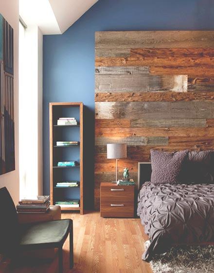 木质地板装修卧室背景墙