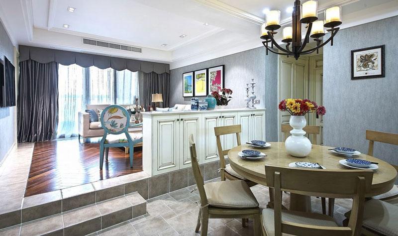 优雅美式设计 错层客餐厅装修