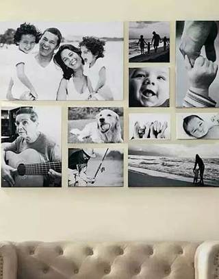 有爱客厅照片墙装修效果图