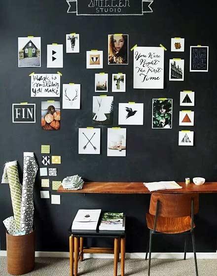 书房照片墙装修效果图