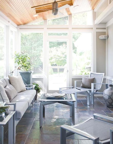 舒适阳光房 阳光房阳台 白色断桥铝阳光房