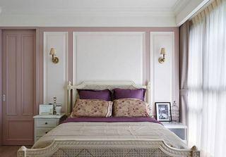 美式粉色浪漫卧室效果图片