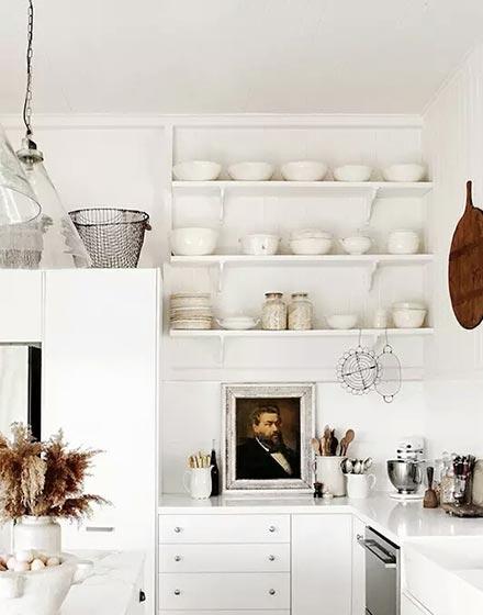 简约白色厨房装修效果图