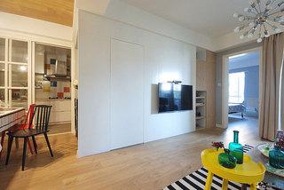 白色衣柜电视背景墙图片