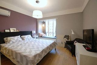 紫色卧室吊顶装修效果图
