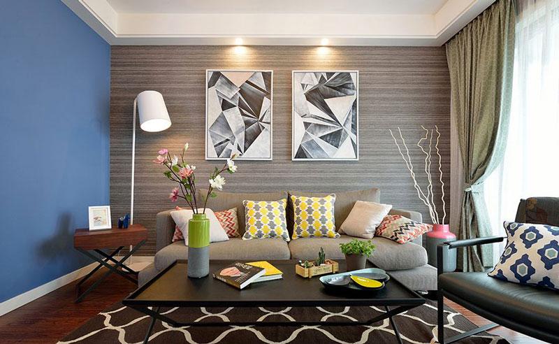 时尚现代都市风客厅 沙发背景墙设计