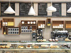 国外咖啡店吧台效果图