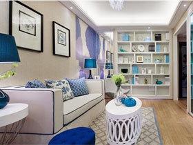 梦幻蓝色简约公寓  每一个空间都精致无比