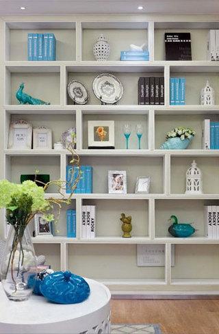 书架展示柜效果图