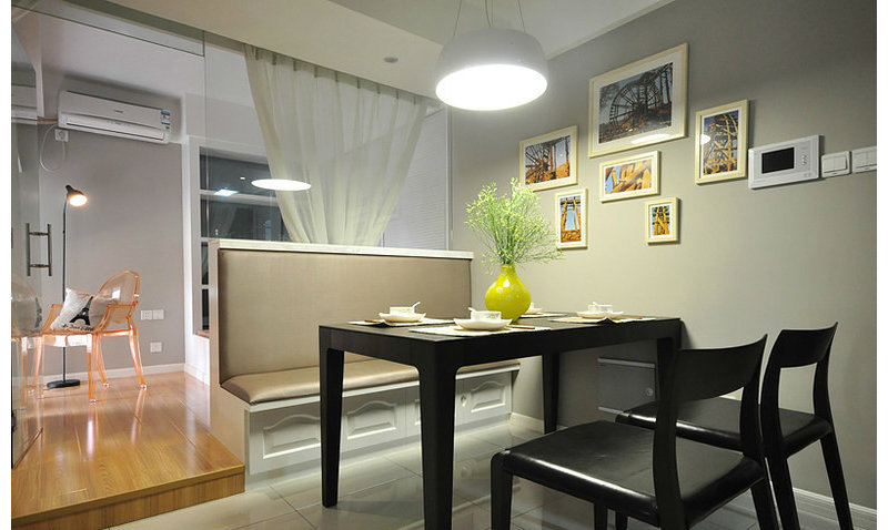 3-5万100平米简约三居室装修效果图,天朗大兴郡装修图