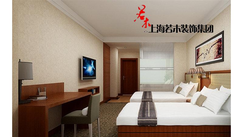 陆家快捷酒店 1500平 新中式风格装修效果图,室内设计