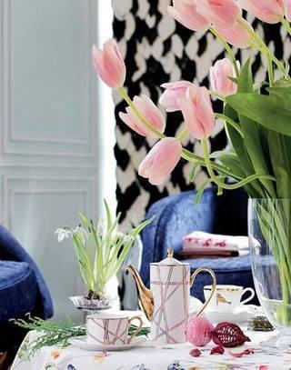 唯美餐厅桌布装饰设计图