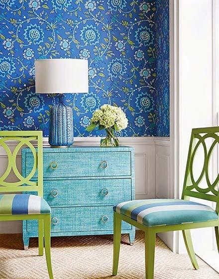 壁布壁纸诠释新美学清新壁纸装扮客厅背景墙设计图片