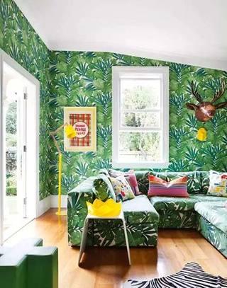 壁纸装饰客厅背景墙效果图设计