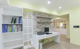 温馨田园风 文化砖书房背景墙装修