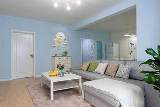 简约地中海风情 水蓝色客厅效果图