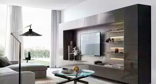 现代简约客厅电视背景墙装修