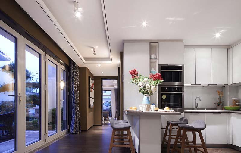 时尚现代简约风 开放式厨房吧台设计