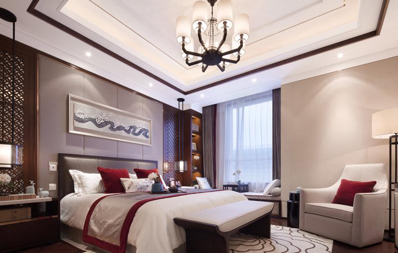 中式卧室效果图