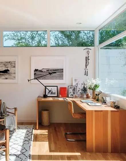 舒适客厅实木转角书桌