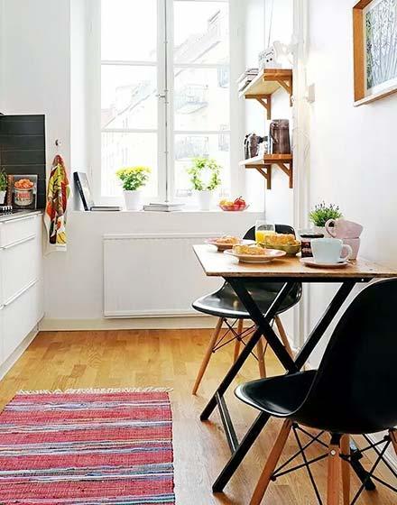 北欧小户型厨房餐桌效果图
